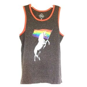 Unicorn Rainbow Flag Pride Tank Top
